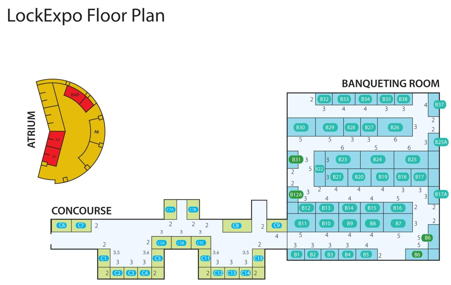 Floorplan - Lockexpo 2019
